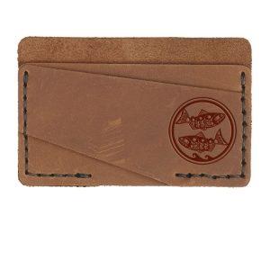 Double Horizontal Card Wallet: Zen Fish / Pisces