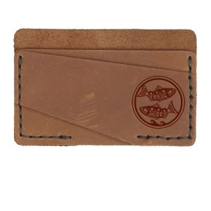 Double Horizontal Card Wallet: Zen Fish / Pisces