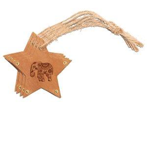 Star Ornament (Set of 4): Elephant Mandala