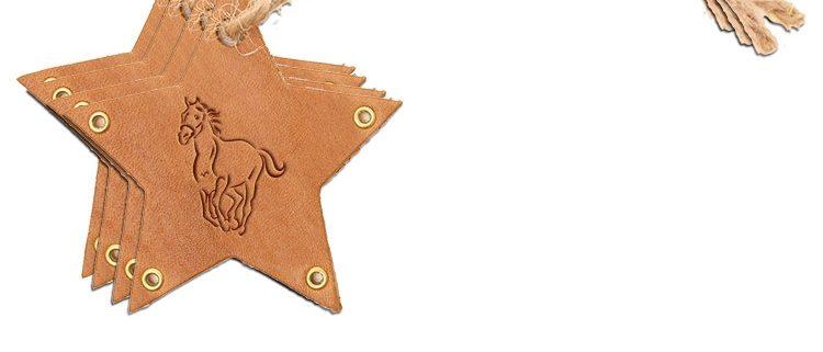 Star Ornament (Set of 4): Horse