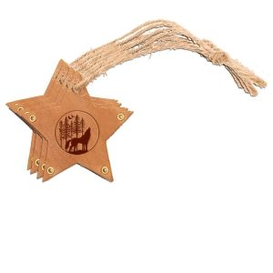 Star Ornament (Set of 4): Howling Wolf