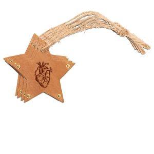 Star Ornament (Set of 4): Heart