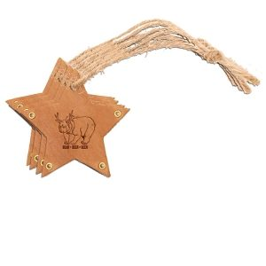 Star Ornament (Set of 4): Beer Bear