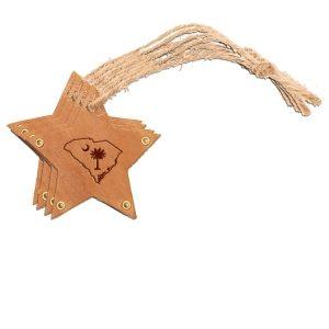 Star Ornament (Set of 4): SC Palmetto