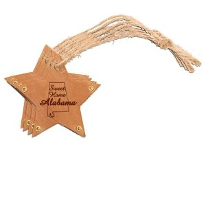 Star Ornament (Set of 4): Sweet Home AL