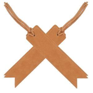 Bookmark with Lace - Medium Brown (Set of 4): Custom