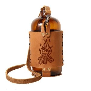 32oz Growlette Tote with Strap: Camp Fire