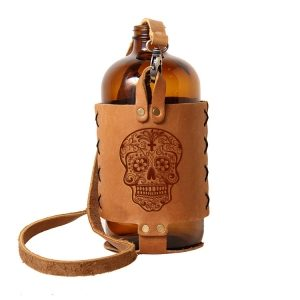 32oz Growlette Tote with Strap: Candy Skull