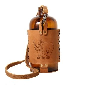 32oz Growlette Tote with Strap: Beer Bear