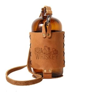 32oz Growlette Tote with Strap: Whiskey