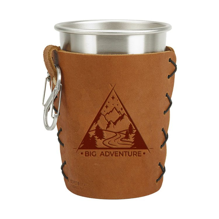 9eb4cad95dc Stainless Steel Pint Holder with Loop & Clip: Big Adventure - Oowee Products