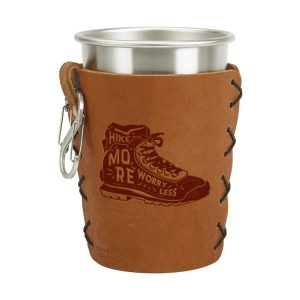 Stainless Steel Pint Holder with Loop & Clip: Hike More, Worry Less