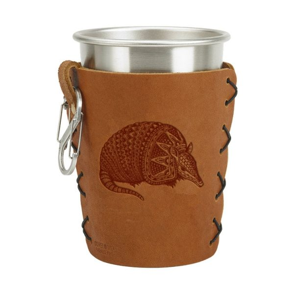 Stainless Steel Pint Holder with Loop & Clip: Armadillo