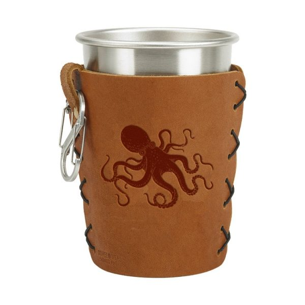 Stainless Steel Pint Holder with Loop & Clip: Octopus