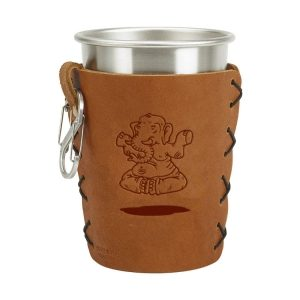 Stainless Steel Pint Holder with Loop & Clip: Elephant Buddah