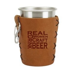 Stainless Steel Pint Holder with Loop & Clip: Real Women...Beer