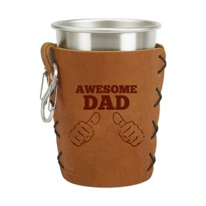 Stainless Steel Pint Holder with Loop & Clip: Awesome Dad