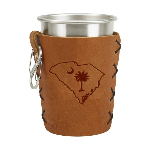 Stainless Steel Pint Holder with Loop & Clip: SC Palmetto
