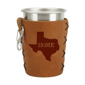 Stainless Steel Pint Holder with Loop & Clip: TX Home