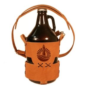 64oz Growler Tote with Strap: Light House