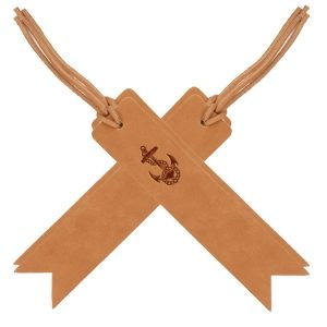Bookmark with Lace - Medium Brown (Set of 4): Anchor