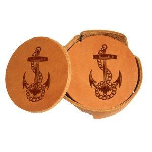 Round Coaster Set: Anchor