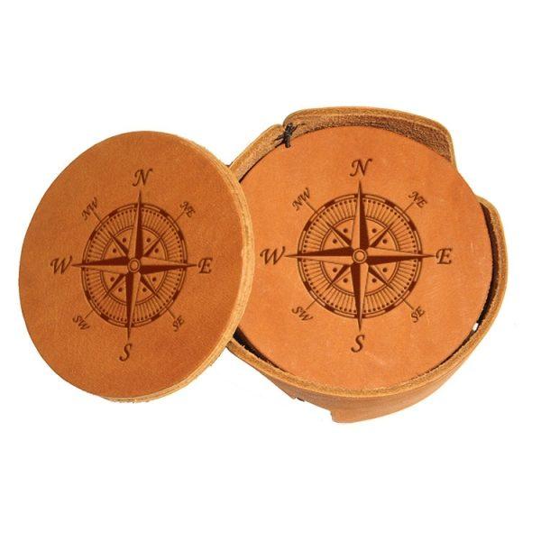 Round Coaster Set: Compass Rose