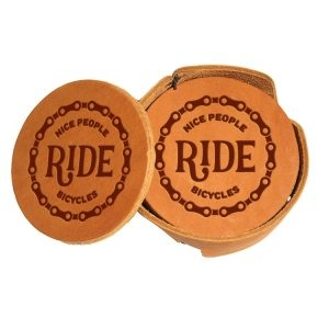 Round Coaster Set: Nice People Ride Bikes