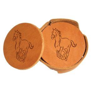 Round Coaster Set: Horse