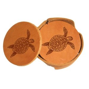 Round Coaster Set: Sea Turtle