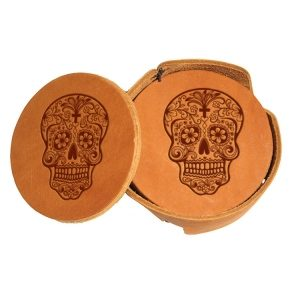 Round Coaster Set: Candy Skull