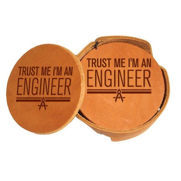 Round Coaster Set: Trust Me ... Engineer
