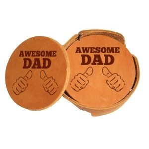Round Coaster Set: Awesome Dad