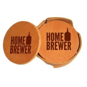 Round Coaster Set: Home Brewer