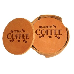 Round Coaster Set: Mmm...Coffee