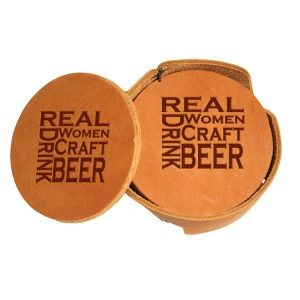Round Coaster Set: Real Women...Beer