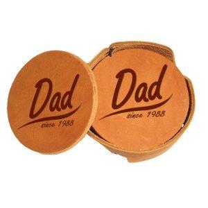 Round Coaster Set: Dad Since