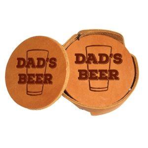 Round Coaster Set: Dad's Beer