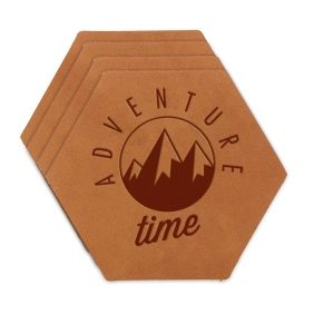 Hex Coaster Set of 4 with Strap: Adventure Time