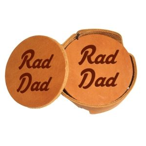 Round Coaster Set: Rad Dad