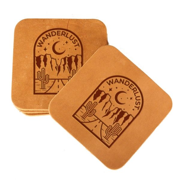 Square Coaster Set of 4 with Strap: Wanderlust