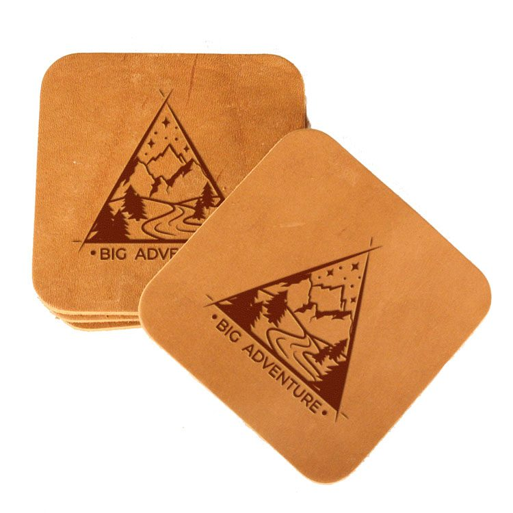 Square Coaster Set of 4 with Strap: Big Adventure