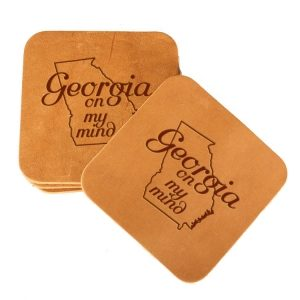 Square Coaster Set of 4 with Strap: GA on my Mind