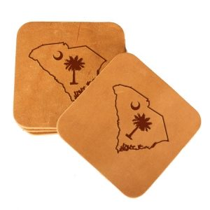 Square Coaster Set of 4 with Strap: SC Palmetto