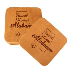 Square Coaster Set of 4 with Strap: Sweet Home AL