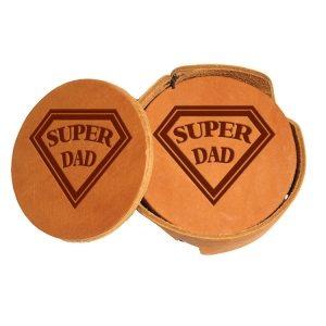 Round Coaster Set: Super Dad