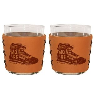 Highball Set of 2 with Glasses: Hike More, Worry Less