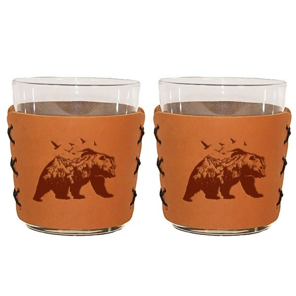 Highball Set of 2 with Glasses: Mountain Bear