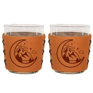 Highball Set of 2 with Glasses: Mountains & Moon