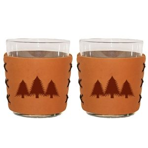 Highball Set of 2 with Glasses: Pine Trees